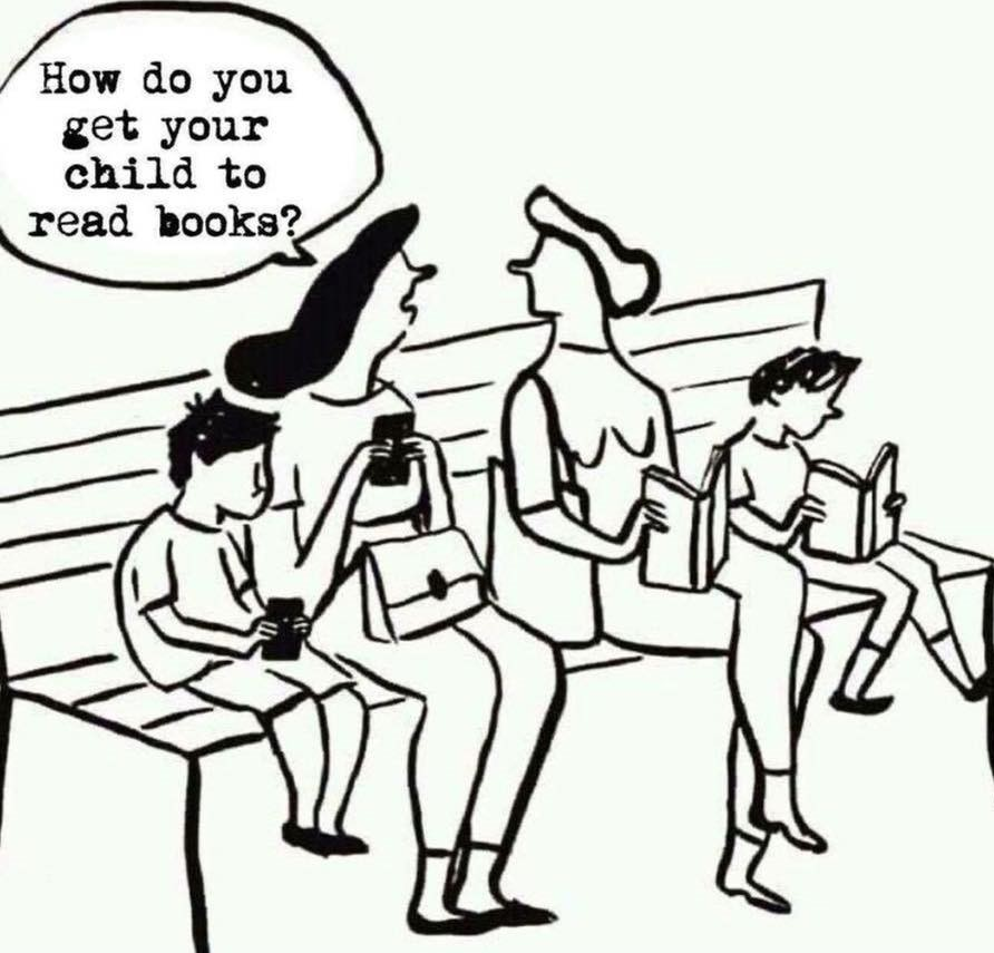 How do you get your child to read books?
